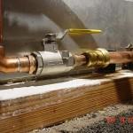 Water main ground clamp