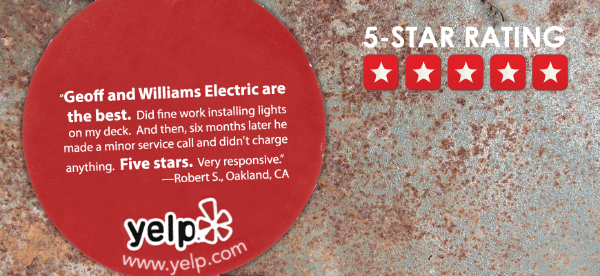 Williams Electric|510-339-5601 6114 La salle ave. 94611|electricain serving Oakland Piedmont Berkeley, electrical work, panel change, remodel, renovation, residential and commercial electrical work